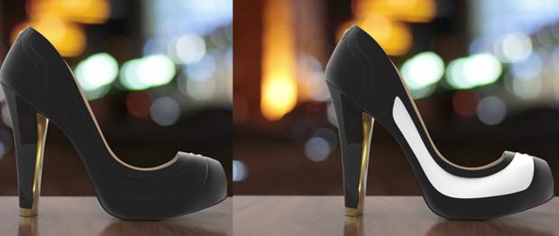 színváltó cipő