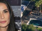 Halott férfit találtak Demi Moore medencéjében